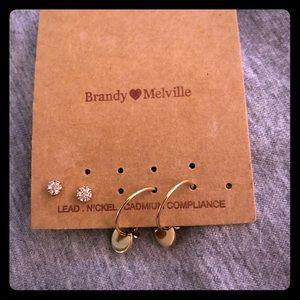 Brandy Melville Earrings/3 pairs missing